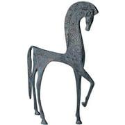 "10.5"" Hellenistic Classic Greek Ironwork Horse Statue Sculpture Figurine"