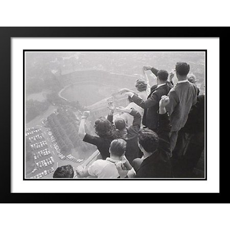 "George Silk Framed and Double Matted Art Print 37x31 ""World Series, Pittsburgh, 1960"""