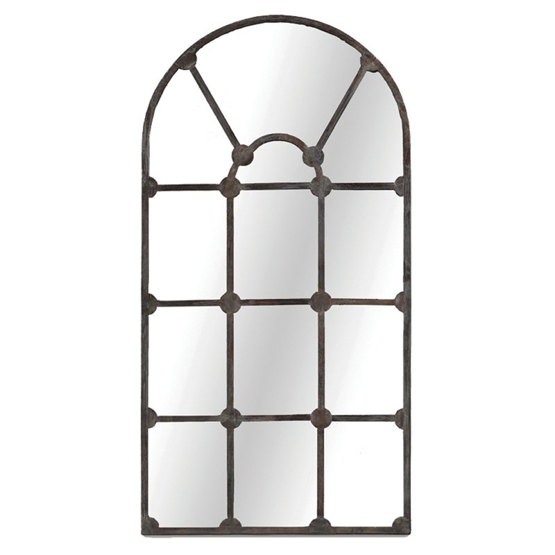 gabby drake arched iron wall mirror