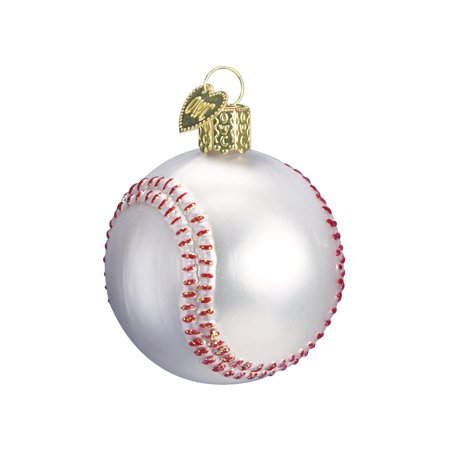 Baseball Glass Blown Ornament, Hand crafted in age-old tradition using techniques that originated in the 1800's By Old World - Chinese Christmas Traditions