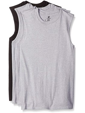 cb3b62ce052992 Product Image Hanes Men s Sport Cool Dri Sleeveless T-Shirt 4-Pack (Black    Grey
