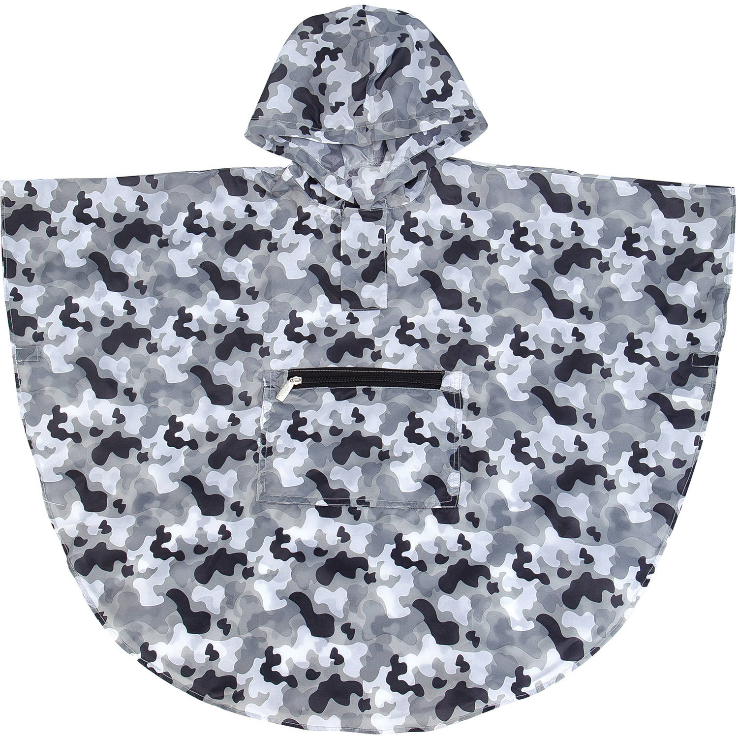 Click here to buy Gray Camo Poncho (4-7) by Wildkin.