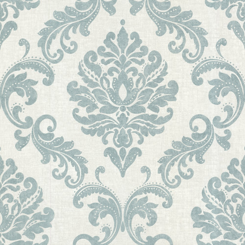 Brewster Home Fashions Zinc Sebastion 33' x 20.5'' Damask 3D Embossed Wallpaper