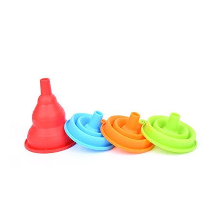 - Hot SaleSilicone Gel Practical Collapsible Foldable Funnel Hopper Kitchen Tool Gadget