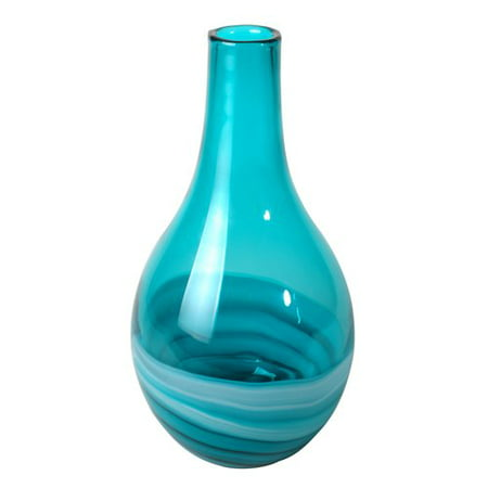 Lerman Decor Marble Style Glass Vase, 1 Each
