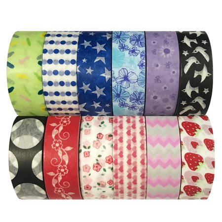 Wrapables® WPSET70 Washi Masking Tape Collection (Set of 12) - Fall Washi Tape