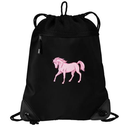 Horse Bag (Horse Drawstring Bag Cute Horse Cinch Pack - Unique Mesh &)