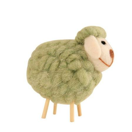 Cute Plush Animals Toys Wool Felt Sheep Plush Toys For Children Kids Room Decoration Ornament Figurines Miniatures