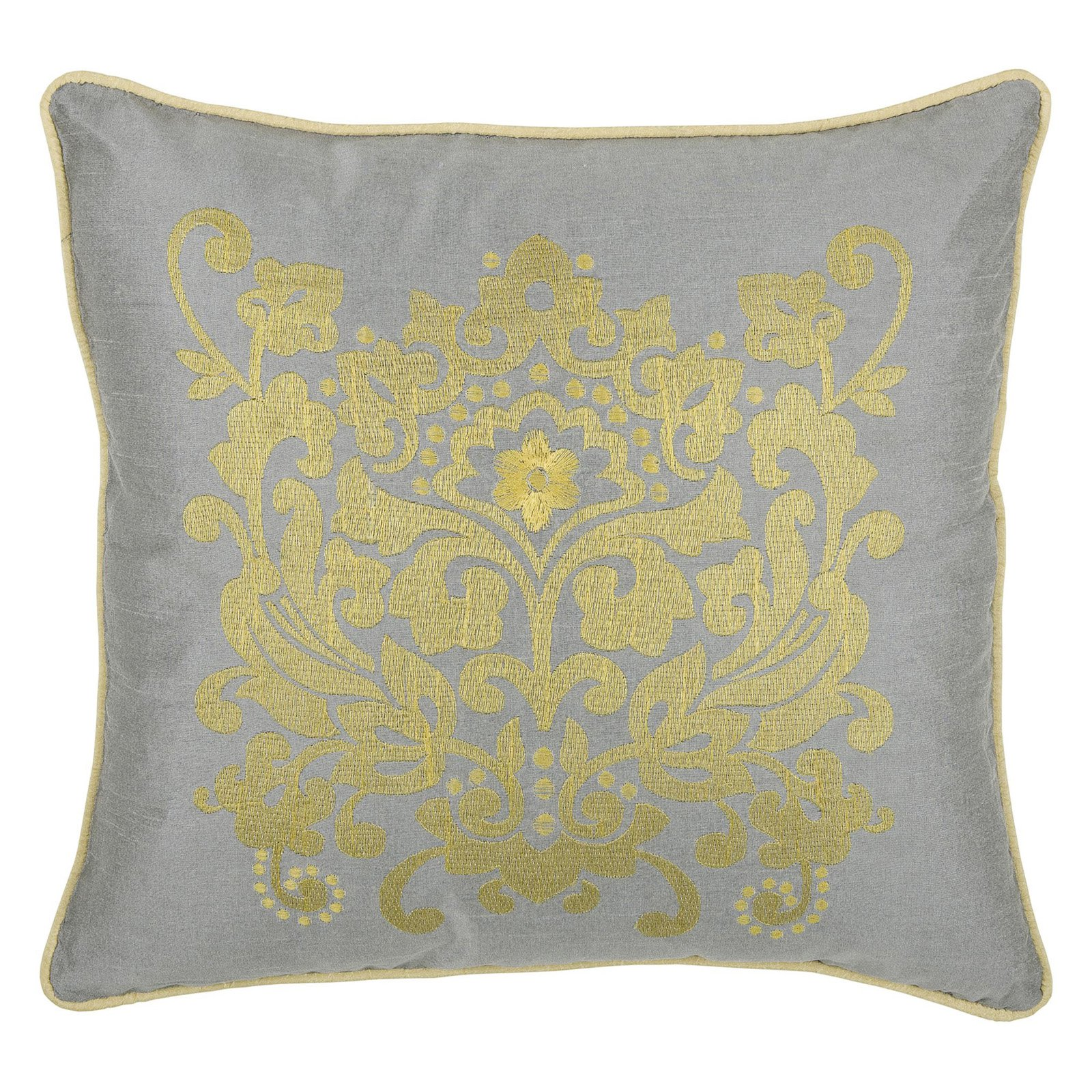 """Rizzy Home medallion18"""" x 18""""Polyester decorative filled pillow"""