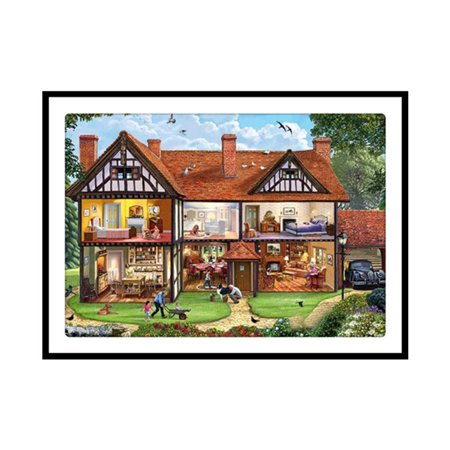 Cottage Pattern 5D Diamond Painting Embroidery Cross Stitch Art Pictures - image 7 of 7
