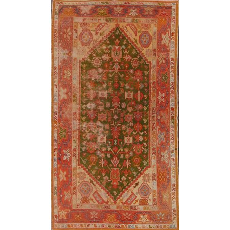 RugSource Hand-Knotted Antique Green 3x6 Oushak Turkish Oriental Area Rug