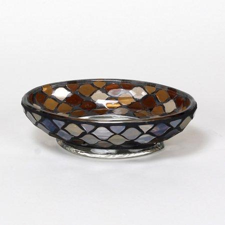 Morocco glass bathroom soap dish