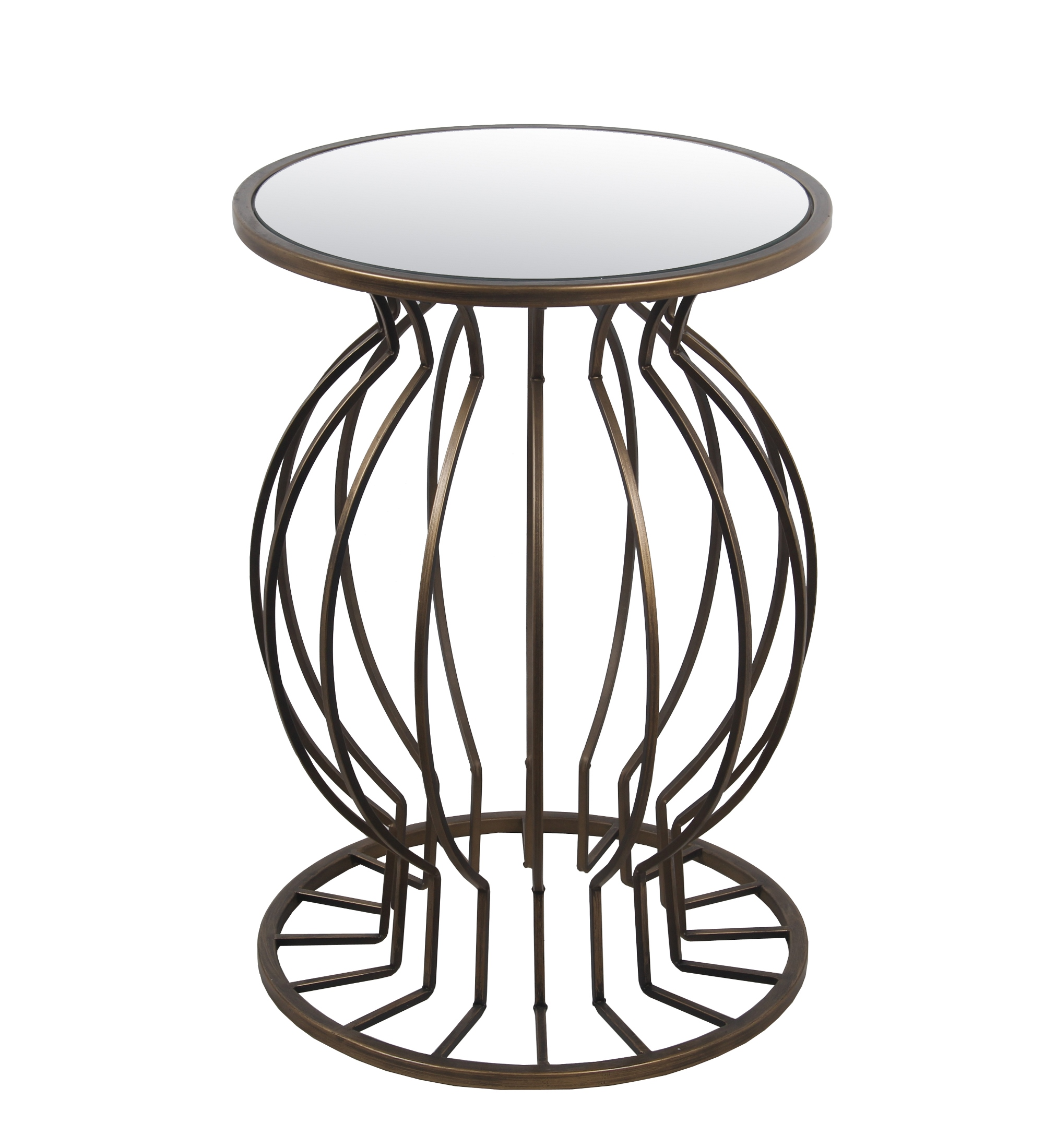 Accent Table Iron & Glass by Privilege International