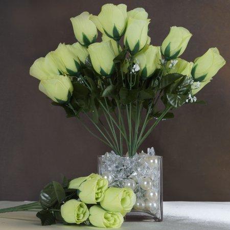 Efavormart 84 Artificial Buds Roses for DIY Wedding Bouquets Centerpieces Arrangements Party Home Decorations Wholesale Supplies