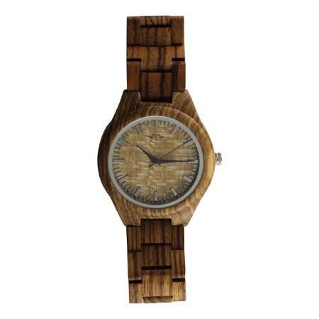 Angie Wood Creations Zebrawood Men's Watch with Zebrawood Band and Bamboo Dial - image 1 de 7
