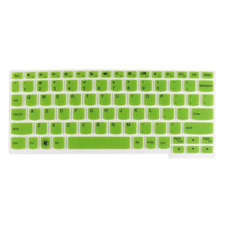 Unique Bargains Green Clear Soft Silicone Laptop PC Keyboard Skin Protector Film for Lenovo S206 (Soft Silicon Skin)