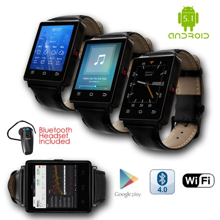 Indigi  New 2017 3G Android 5 1 Smart Watch Phone  Gsm Factory Unlocked  Maps   Wifi   Gps   Google Play   Bluetoot