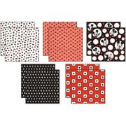 "Disney Paper Pack 12""X12"" 10/Pkg-Mickey Black, White & Red; 5 Designs/2ea"