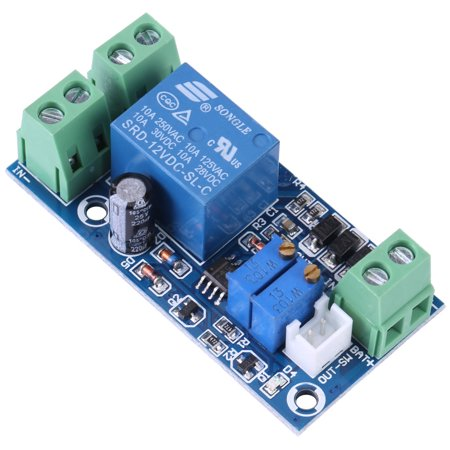 Ashata 12V Storage Battery Protection Board Undervoltage Automatically Turn On/Off Controller Module,Undervoltage Protection Board, Low Voltage Cut off Switch (Off Board)
