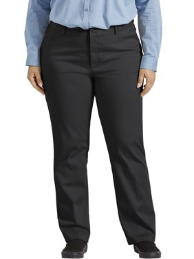 Dickies Women's Plus Size Perfectly Slimming Straight Pant