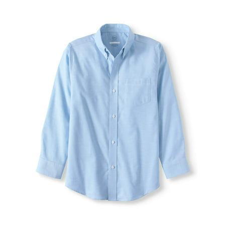 Wonder Nation Boys' School Uniform Long Sleeve Oxford Shirt