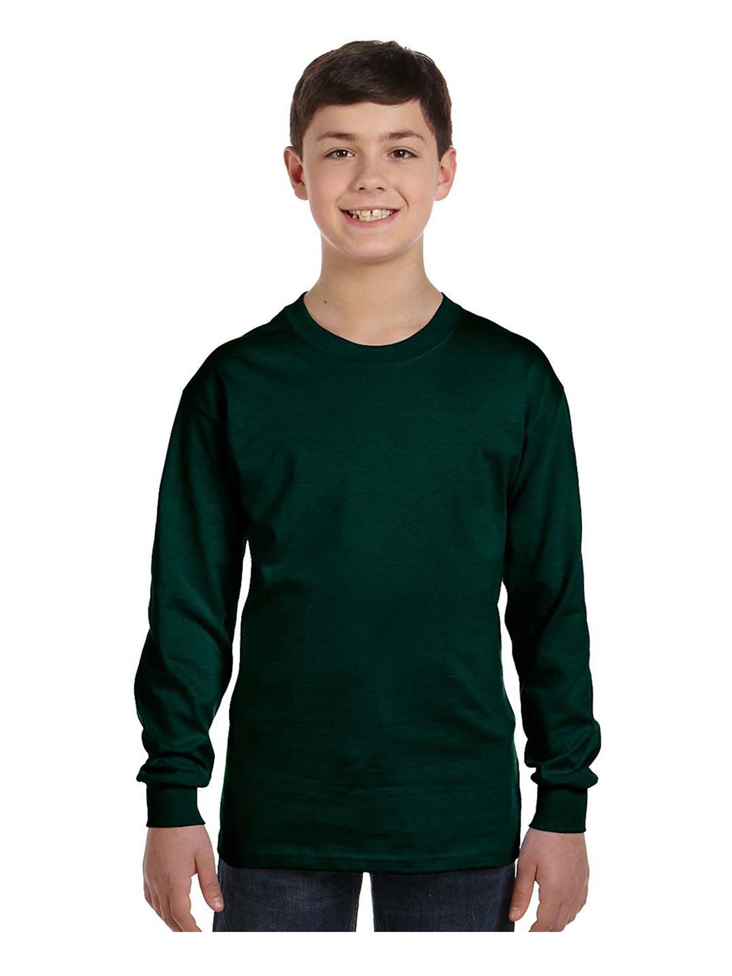 Gildan Big Boys Seamless Crewneck Long Sleeve T-Shirt, Style G5400B