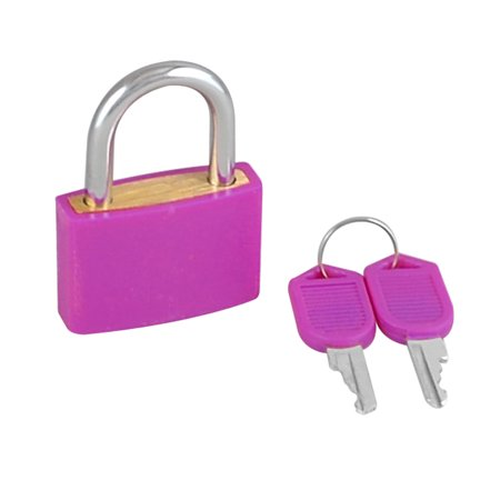32mm Rectangle Cabinet Lock Drawer Small Padlock with key Fuchsia