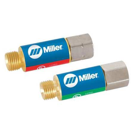 MILLER-SMITH EQUIPMENT H743 Flashback Arrestor, Torch, Oxy/Fuel