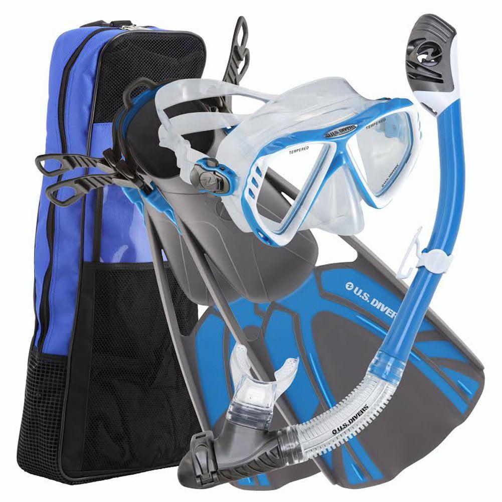 US Divers Regal LX Tucson Tulum Snorkel Set with Travel Bag Men's by US Divers