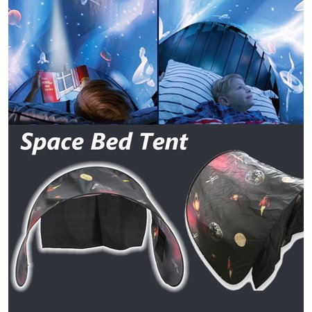 Dream Tents Kids Pop Up Bed Tent Playhouse Space Adventure Kid Playhouse Folding Bed Indoor Pop Camping Up Tent (Camping Play Tent)