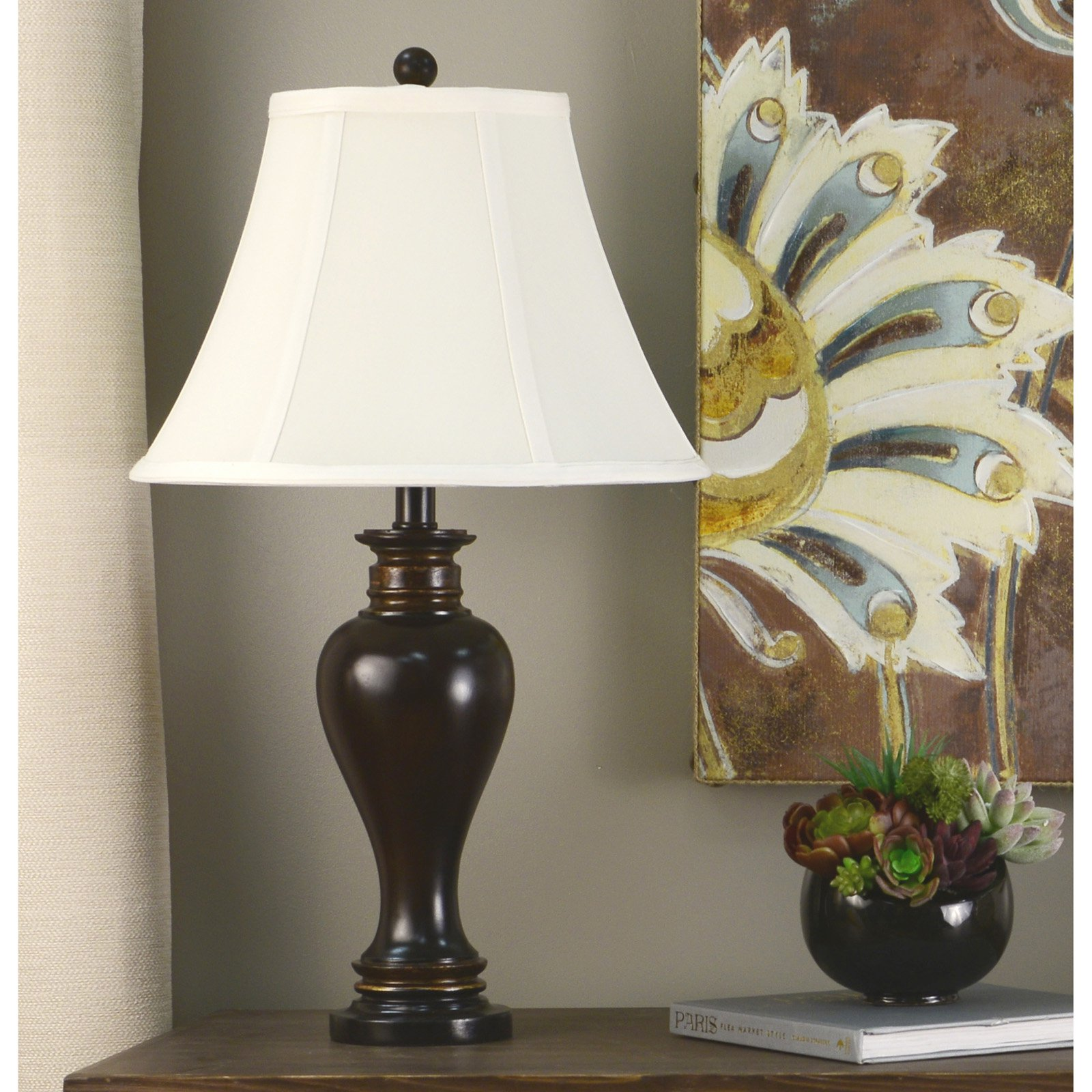 Decor Therapy Walnut Ridge Bronze Resin Table Lamp with Barclay Gold Highlights and Soft... by Jimco Lamp and Manufacturing Company