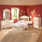 childrens bedroom set. South Shore Summer Breeze 3 Piece Kids Twin Bookcase Bedroom Set in Cream  Sets Walmart com