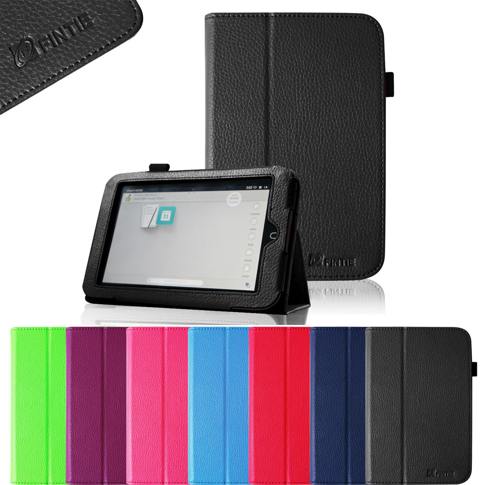 Barnes & Noble Nook HD 7 Tablet Case - Fintie PU Leather Slim Fit Folio Cover with Auto Sleep/Wake Function, Black