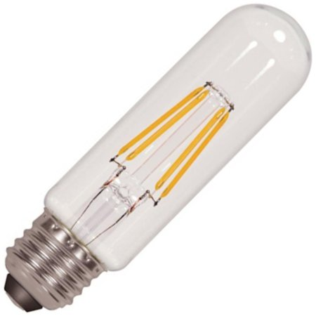 Satco 09580 - 4.5 watt 120 volt T10 Medium Screw Base Clear LED (4.5T10/LED/E26/27K/120V (S9580)) 130v Medium Screw Base