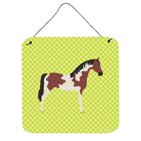 Pinto Horse Green Wall or Door Hanging Prints, 6 x 6 in. (Sage Pinto Horse)