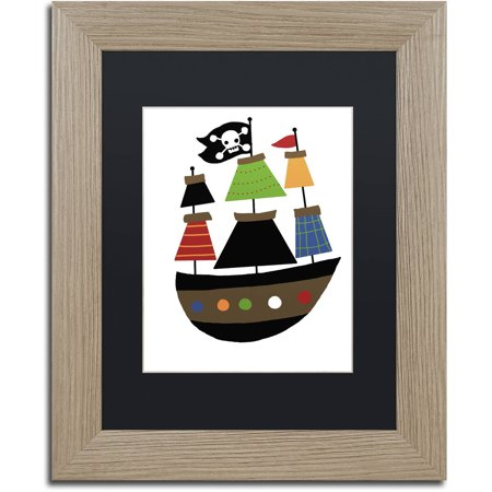 Matte Black Ships (Trademark Fine Art