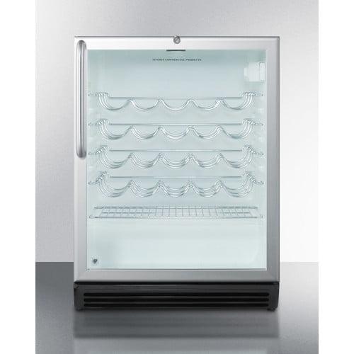 Summit Appliance Summit Commercial 36 Bottle Single Zone Built-In Wine Cooler