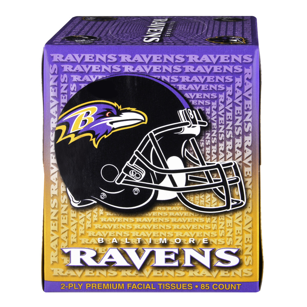 NFL Baltimore Ravens 2-Ply Premium Facial Tissues, 85.0 CT