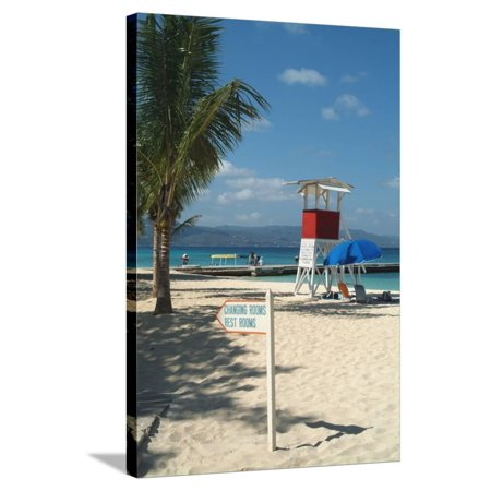 Doctor's Cave Beach, Montego Bay, Jamaica, West Indies, Caribbean, Central America Stretched Canvas Print Wall Art By Ethel Davies