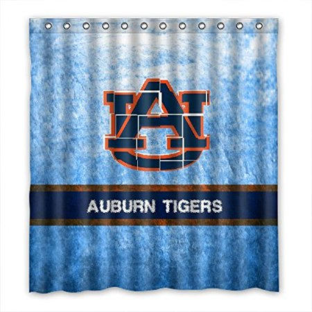 DEYOU Auburn Tigers Shower Curtain Polyester Fabric Bathroom Size 66x72 Inches