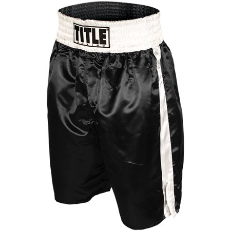 Title Professional Boxing Trunks - Black/White Autographed Custom Boxing Trunks