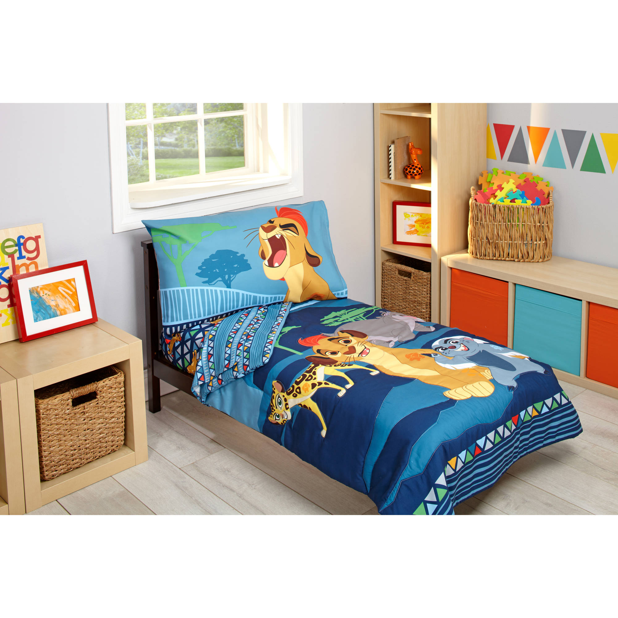 Disney Lion Guard Wild Team 4 Piece Toddler Bedding Set