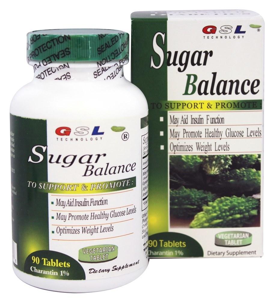 GSL Technology - Sugar Balance Diabetic Supplement - 90 Vegetarian Tablets