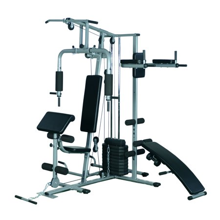 Soozier Complete Home Fitness Station Gym Machine W  100 Lb Stack