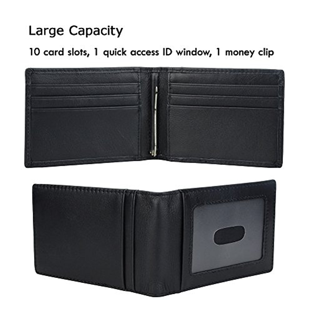 30076c77d14b Onstro RFID Blocking Slim Wallet for Men Money Clip Bifold Grain ...