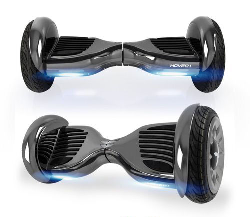Hover-1 Titan UL Certified Electric Hoverboard w/ 6.5 Wheels, LED Lights, Bluetooth Speaker, and App Connectivity - Gunmetal