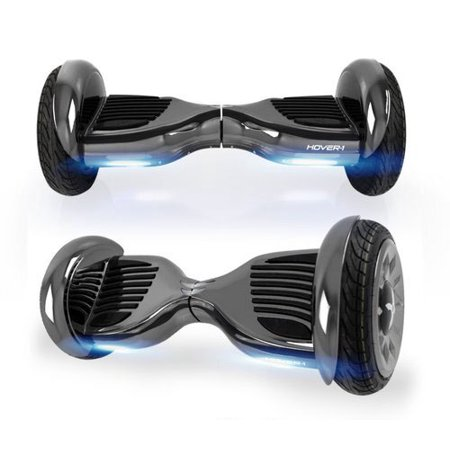 "Hover-1 Titan UL Certified Electric Hoverboard w/ 10"" Wheels, LED Lights, Bluetooth Speaker, and App Connectivity - Gunmetal"