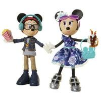 Disney Mickey & Minnie Movie Night Fashion Doll 2 Pack Playset