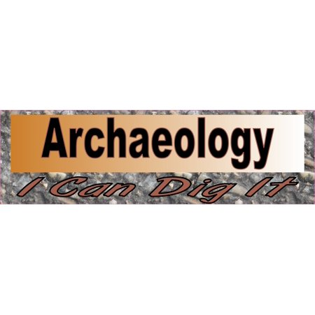 10in x 3in Archaeology I Can Dig It Bumper Sticker Vinyl Window Decal