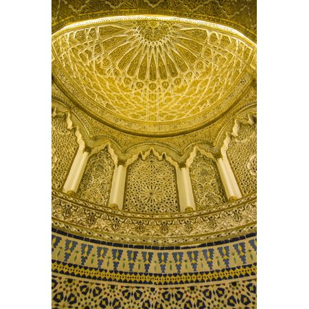 Golden dome inside the magnificent Grand Mosque, Kuwait City, Kuwait, Middle East Print Wall Art By Michael Runkel
